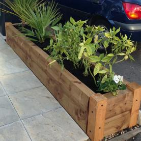 Brown Loglap Planters