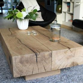 Solid Oak Sleeper Coffee Tables