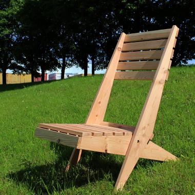 British Larch Garden Lazy Chair/Lounger