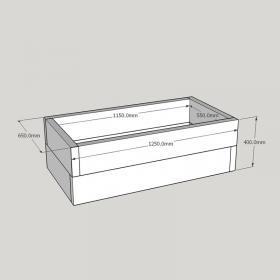 Planed FlowerBed Oak Kit - 1.2m x 0.6m