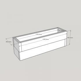 Planed FlowerBed Oak Kit - 1.2m x 0.3m