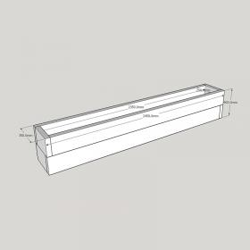Planed FlowerBed Oak Kit - 2.4m x 0.3m