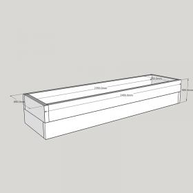Planed FlowerBed Oak Kit - 2.4m x 0.6m