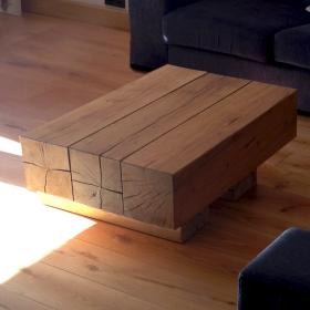 Oak Beam Coffee Table (3 Beam Top)