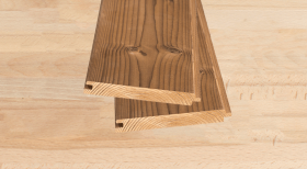 Radiata Pine V Tongue and Groove Profile ThermoWood Cladding