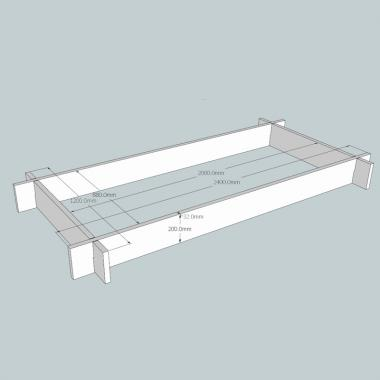 Slot Together Regular Oak Raised Bed (Rectangular)