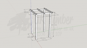 Standard Pergola Kit 1.8m x 1.8m