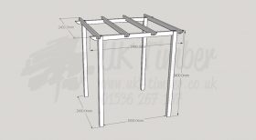 Standard Pergola Kit 2.4m x 2.4m