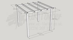Standard Pergola Kit 3.0m x 3.0m