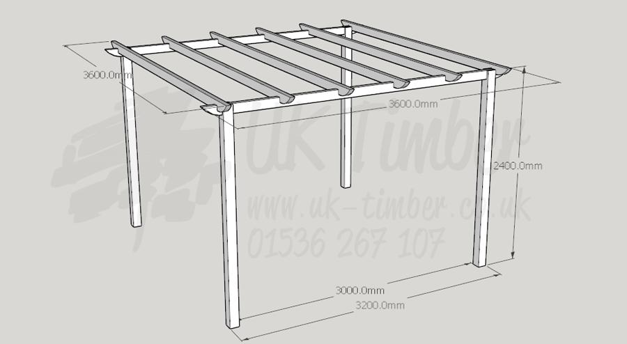 Standard Pergola Kit 36m X