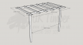 Standard Pergola Kit 2.4m x 3.6m - Wall Mounted