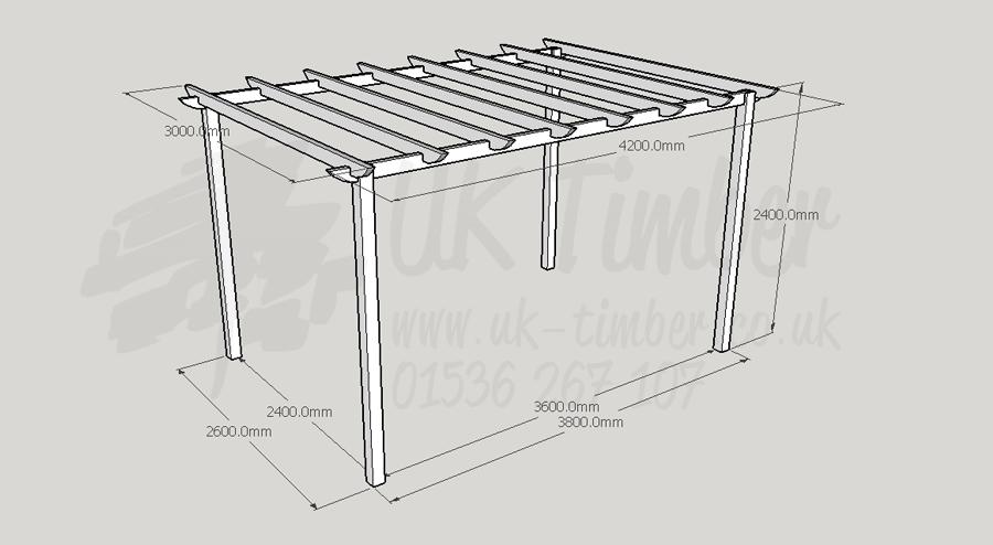 Standard Pergola Kit 30m X 42m