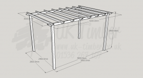 Standard Pergola Kit 3.0m x 4.2m