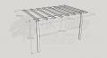 Standard Pergola Kit 3.0m x 4.2m - Wall Mounted