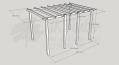 Standard Pergola Kit 3.0m x 4.2m - Ultima