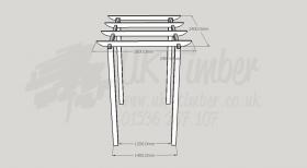 Standard Pergola Kit 1.8m x 2.4m