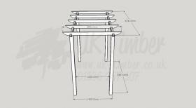 Standard Pergola Kit 1.8m x 3.0m