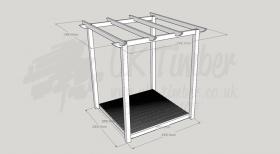 Garden Oasis - 1.8m2 Deck and 2.4m2 Pergola