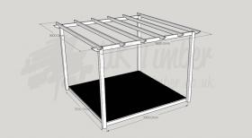 Garden Oasis - 3.0m2 Deck and 3.6m2 Pergola