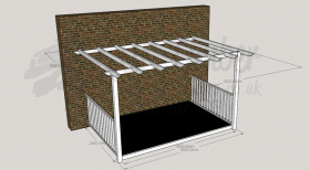Open Porch - 2.4m x 3.6m Deck and 3.0m x 4.2m Pergola