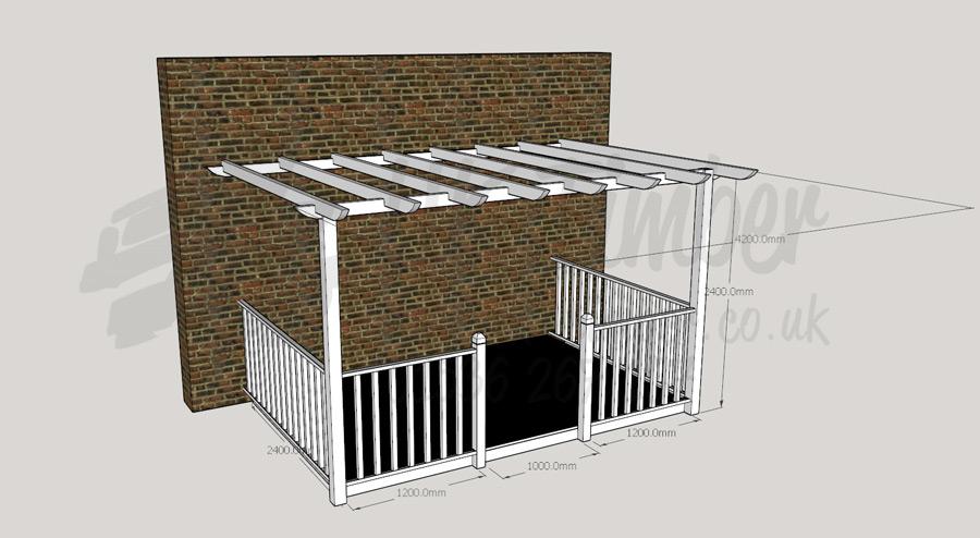 Suntrap Terrace Kits Buy Ultima Verandah 2 4m X 3 6m