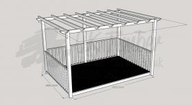 Ultima Terrace - 2.4m x 3.6m Deck and 3.0m x 4.2m Pergola