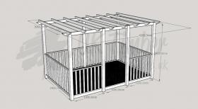 Ultima Terrace Plus - 2.4m x 3.6m Deck and 3.0m x 4.2m Pergola