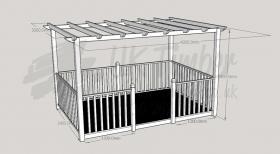 Ultima Patio - 2.4m x 3.6m Deck and 3.0m x 4.2m Pergola