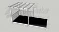 Open Patio - 2.4m x 4.8m Deck and 3.0m2 Pergola