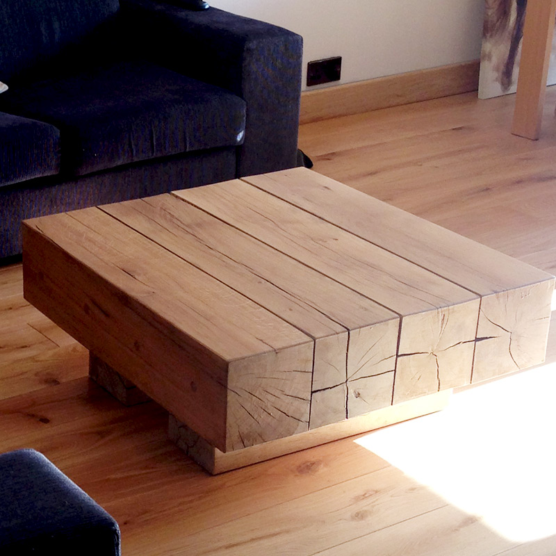 solid oak beam coffee tables | buy oak beam coffee table (4 beam
