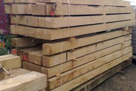 150 x 150 Green Oak Beams