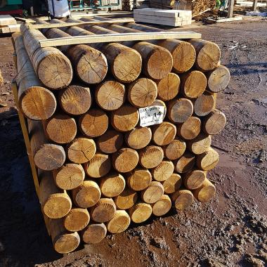Machine Rounded Oak Poles