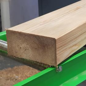 New Untreated Planed and Bevelled Siberian Larch Sleeper