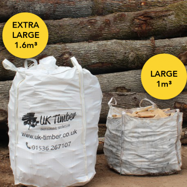 Extra Large Bulk Bag of Mixed Kiln and Air Dried Sawmill Offcuts - Collection Only