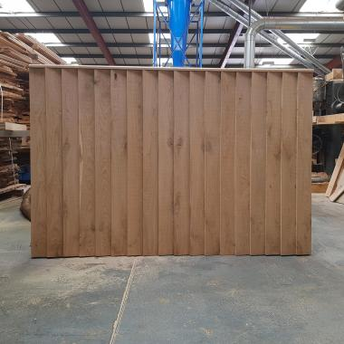 Oak Featheredge Fence Panel