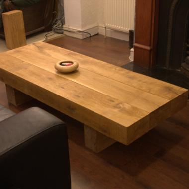 Rectangle Oak Sleeper Coffee Table