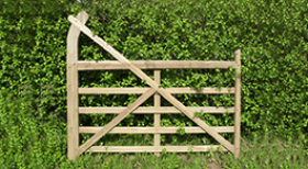 Oak Curved Heel Gate