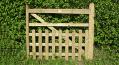 Oak Half Paled Gate - Rounded Pales