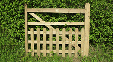 Treated Softwood Half Pale Gate
