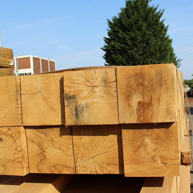 Oak mantel treatment