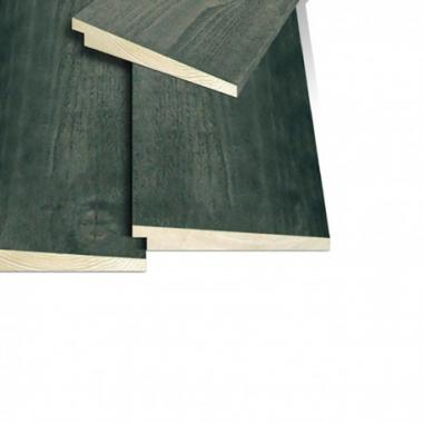 Black Painted Rebated Featheredge Cladding SAMPLE