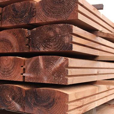 Brown Treated Softwood Log lap Landscaping Sleepers