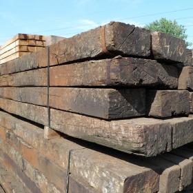 Reclaimed Oak Crossing Timbers