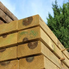 Planed All Round, Bevelled Treated Softwood Sleeper