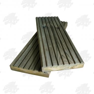 Green Treated Nordic Redwood Pine Decking