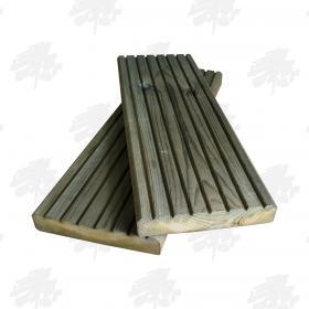 Green Treated Nordic Redwood Pine Decking