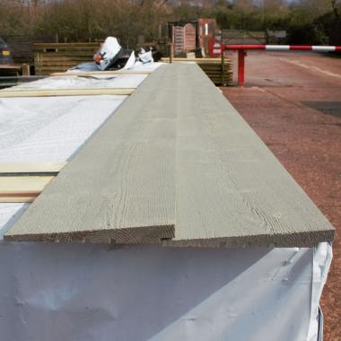 Grey Painted Rebated Featheredge Cladding