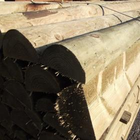 Half Round Machine Turned Pine Rail