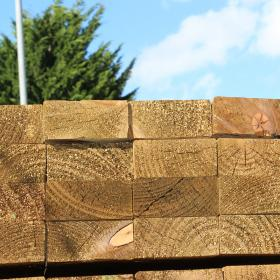 Green Treated English Softwood Decking Joists 150 x 50mm