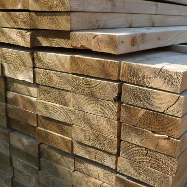 Green Treated English Softwood Decking Joists 200 x 50mm